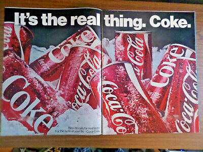 1970 Coke Coca-Cola Ad It's the Real Thing  Cans of Coke