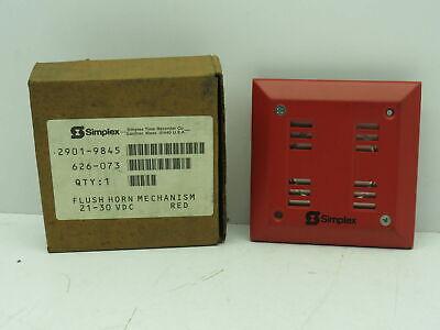 Simplex 2901-9845 Red Flush Mount Fire Alarm Signaling Horn 21-30 Vdc 626-073