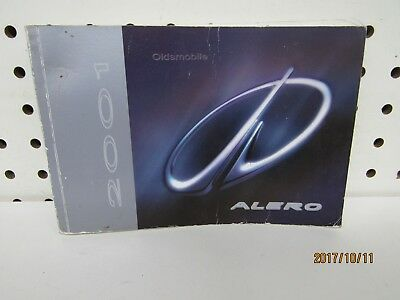 2001 Oldsmobile Alero  Owners Manual (book only)             FREE SHIPPING