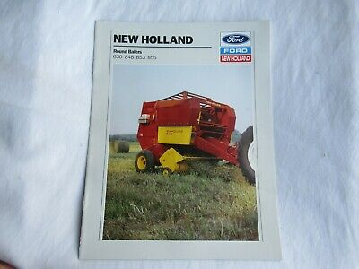 1989 Ford New Holland 630 848 853 855 Round Baler Brochure