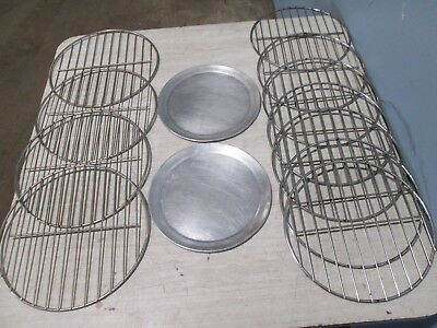 Lot Of 13 H.d. Commercial Assorted Aluminum S.s. Pizza Baking Pansracks