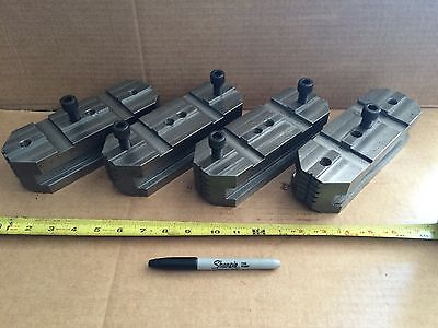 Metal Lathe Chuck Jaws Set 4ea 2252 Fits Kingston Hr2000 32 Chuck