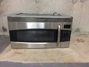 GE Profile Microwave with range hood