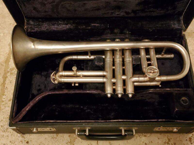 vintage CONN NEW WONDER cornet dated 1799