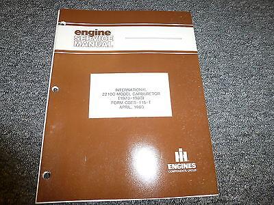 International Harvester Ih 2210c Carburetor Shop Service Repair Manual