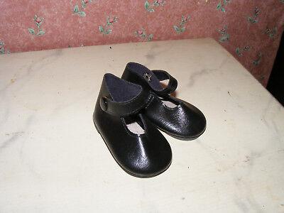 Nostalgie-Schuhe-Puppe Gr. ca  49-schwarz