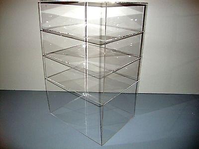 Acrylic Lucite Countertop Display Case Showcase Box Cabinet 12 X 9 12 X 19