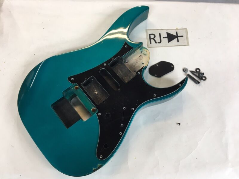 1993 Ibanez Japan RG550 RG Electric Guitar Body Blue Teal