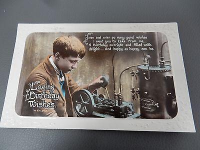 BOY ENGINEER  SCIENTIST MECHANIC  SCIENTIST  Postcard 1920 ERA  AUTHENTIC