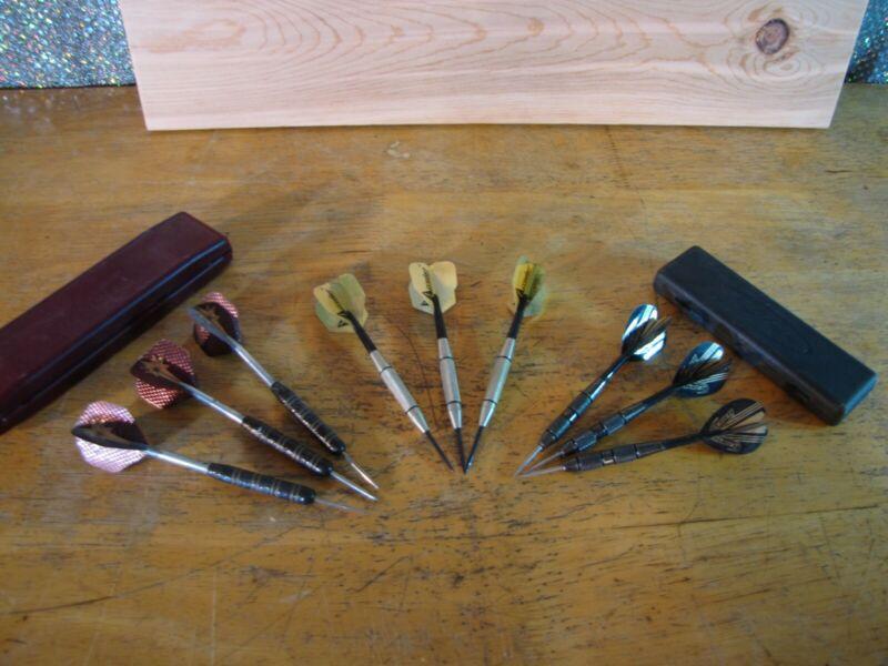 3 sets of steel tip darts