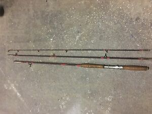 Very rare 3 piece black fish rod Busby Liverpool Area Preview