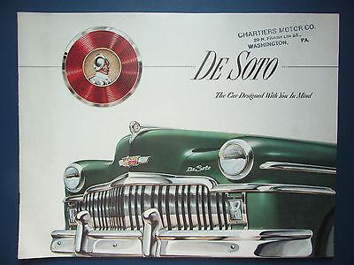 """1949 DeSoto Car Dealer Sales Brochure - Division of Chrysler - 13""""x10"""""""