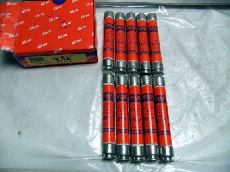Box 10 Amp-Trap Fuses A6DR31/2R