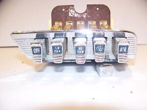 1959 1960 CHRYSLER HEATER CONTROLS + 1842490 OEM A/C FURY POLARA 300 NEW YORKER