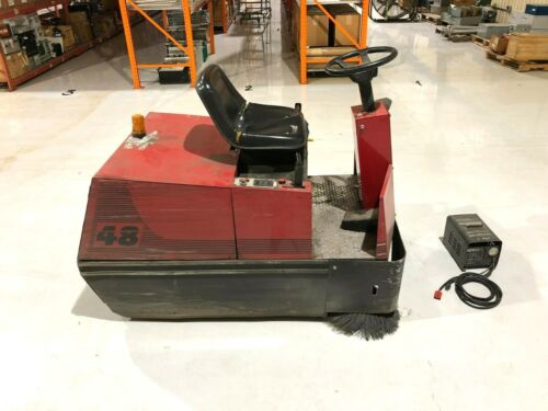 Factory Cat 48 Industrial Electric Ride On Floor Sweeper, Commercial, 24V