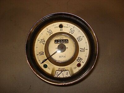 Speedometer with fuel gauge to suit Morris Minor etc. Untested. Garage clearance