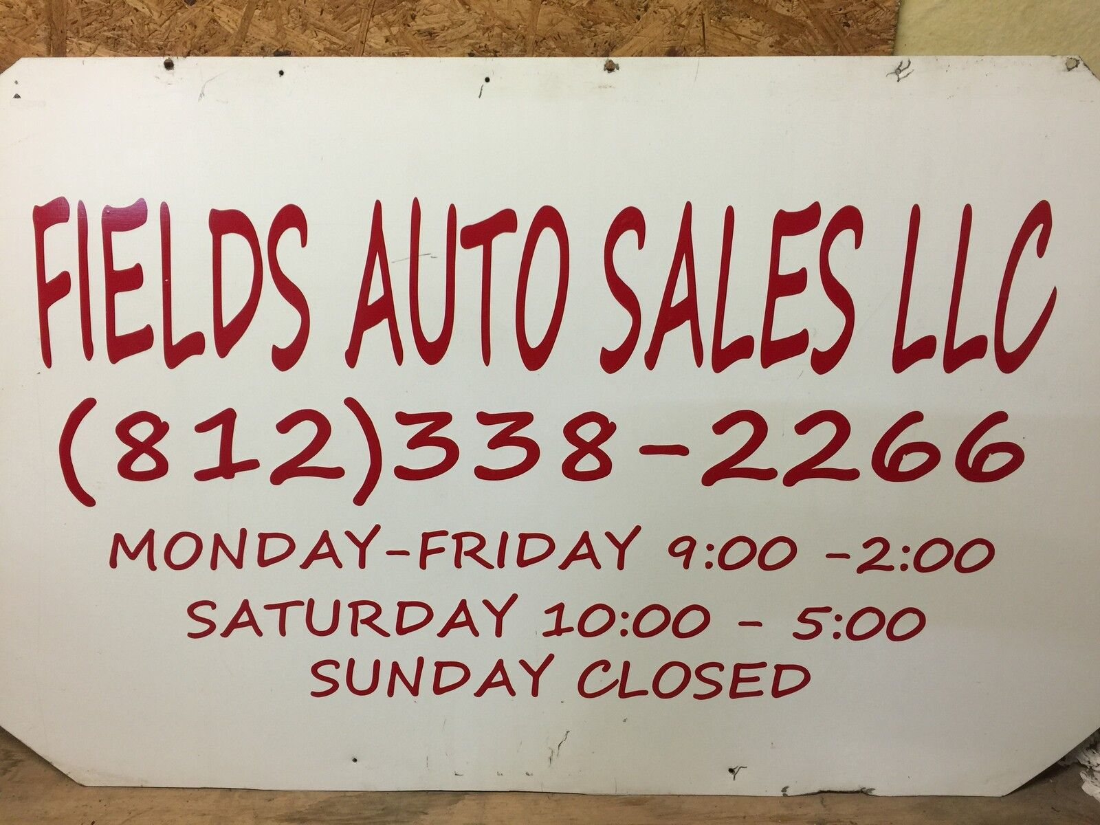 Fields Auto Sales LLC