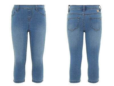 NAME IT  Mädchen Caprihose Caprijeans Skinny Jeans Jeanslegging  116 bis 164 (Capri-jeans Mädchen)