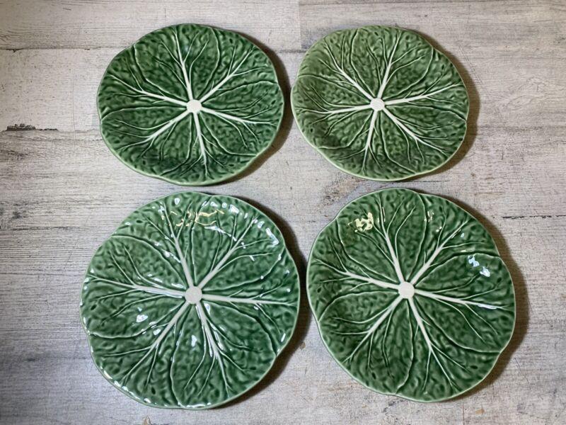 Bordallo Pinheiro Cabbage Dessert Plates Set of 4 New