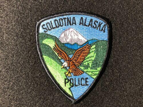 SOLDOTNA ALASKA POLICE EMBROIDERY APPLIQUE PATCH-S002