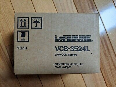 Sanyo Vcb-3524l Lefebure Ccd Bw Security Camera Nib Made In Japan
