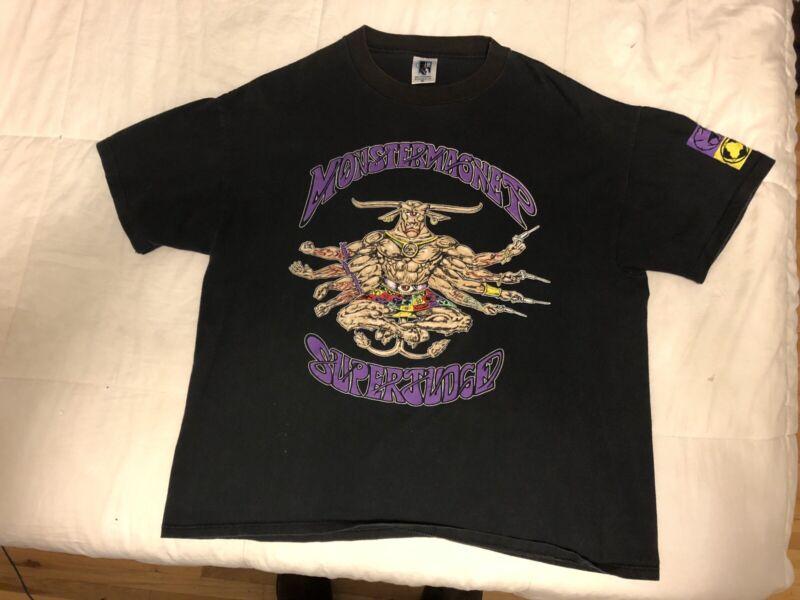 Original Vintage 1993 Monster Magnet Superjudge Shirt XL Rare! School Free Drug