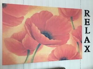 Canvas Poppy Print