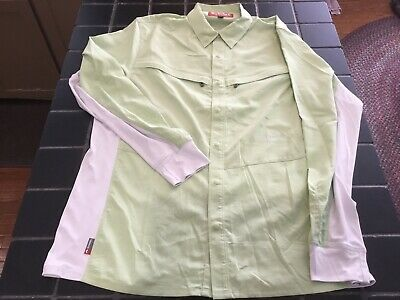 63aefce2 New Simms Fishing Intruder BiComp LS Shirt, Size L, Light Green Color Shirt