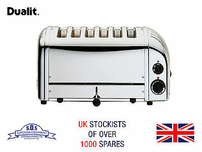 Dualit 6 Slot Polished Vario Commercial Toaster - Silver