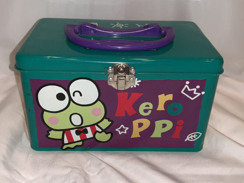 Keroppi Metal Tin Lunchbox Trinket Hello Kitty Sanrio Collectible Vintage