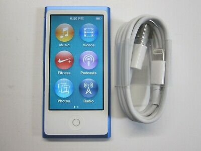 Apple iPod nano 7th Generation Mid 2015 Blue (16GB)(Mint Condition)
