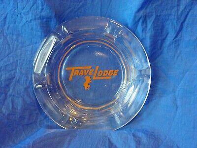 Vintage Travel Lodge Glass Ashtray Motel Advertising