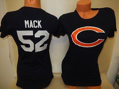 8918 WOMENS Apparel CHICAGO BEARS KHALIL MACK Football Jersey Shirt New BLUE