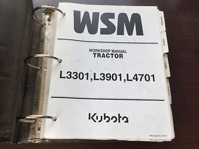 Kubota L3301 L3901 L4701 Tractor Factory Workshop Manual