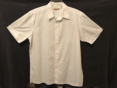Havanera Co. Mens Size Large Short Sleeve White Striped Shirt New With Tags