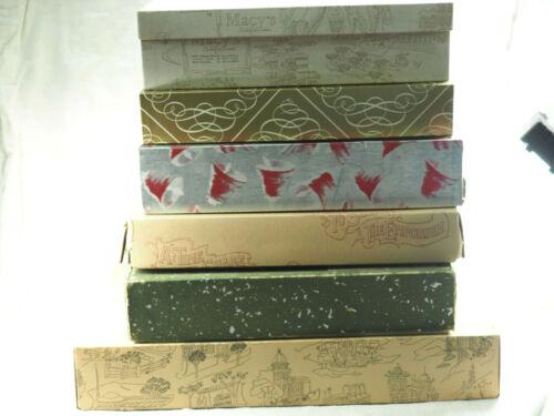 9 Vintage Box Lot  department store Macys gift  Emporium Japanese Bows Ribbons