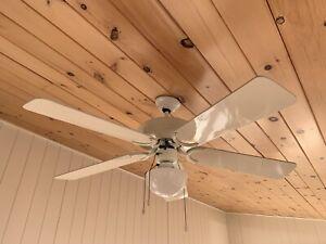 Plafonnier luminaire avec ventilateur