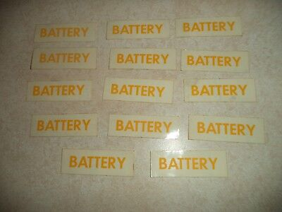 Battery Decals Yellow 112742-1