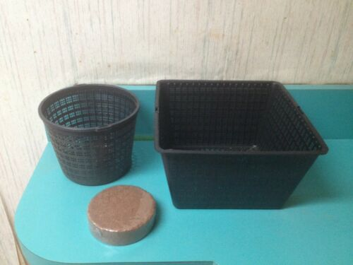 """Pond Basket Aquatic/ Hydroponic/ Water Garden/ Filter Finofil® 9 or 6"""" 5-100 qty"""