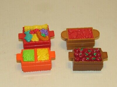 Fisher-Price Little People FOOD CRATES Noah's Ark Nativity Zoo Farm Apples Lot 1