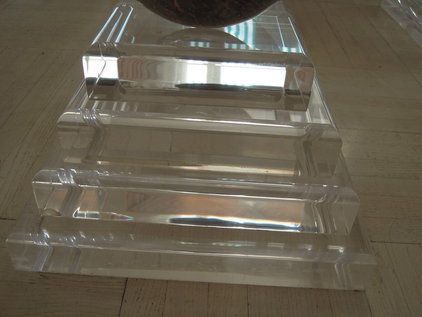 Luxusdesign wohnzimmertisch marmor acryl plexi massiv tisch couchtisch