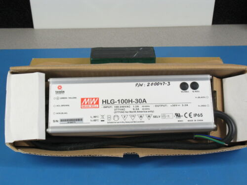 ONE! Mean Well HLG-100-30A LED Power Supply 100-240VAC to 26-33VDC 3.2A Out.