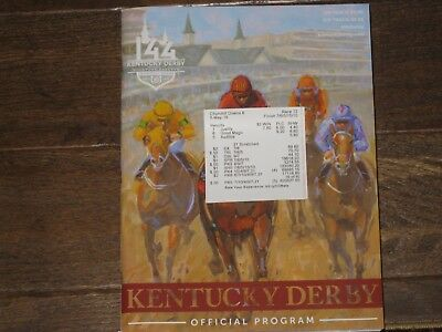 2018  New 144Th Kentucky Derby Program And Results Ticket  Justify