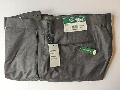 $140 Lauren Ralph Lauren Nolan Wool Flannel Charcoal Pants Mens 38 x 30 NEW