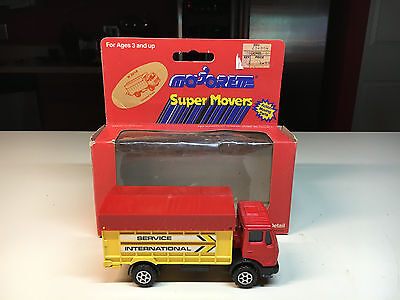 Old Vtg MAJORETTE Super Movers Durable Diecast Service International Truck
