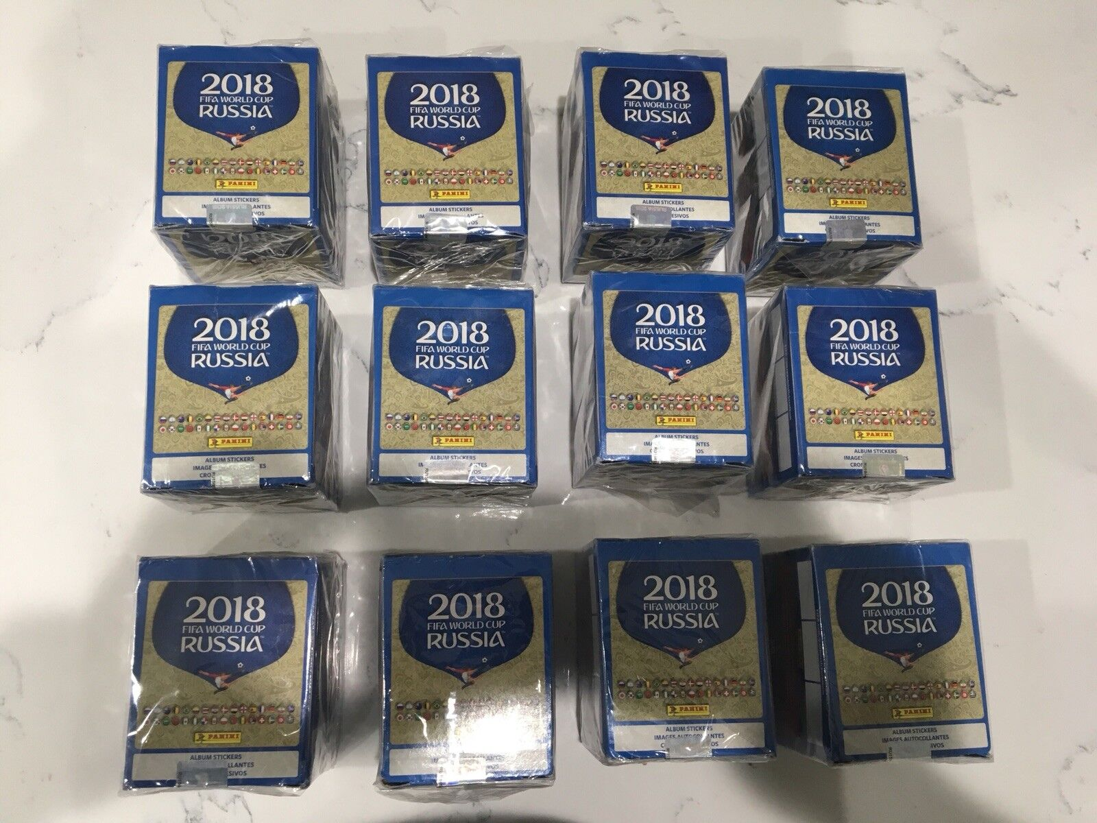 2018 Panini Russia FIFA World Cup Soccer Sticker Collection 50 Pack Box
