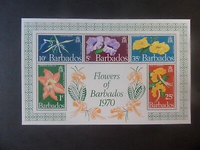 Barbados 1970 Flowers of Barbados MS424 IMPERF UM MNH unmounted mint
