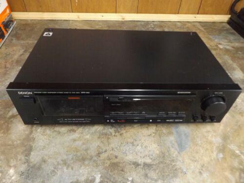 DENON Stereo Cassette Tape Deck Recorder Model DRR-680 - Tested