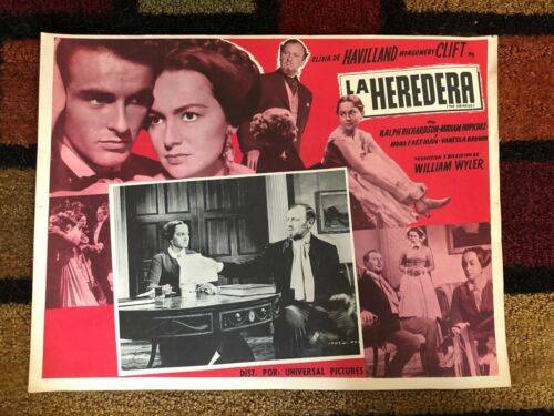 THE HEIRESS Film Montgomery Clift MEXICAN LOBBY CARD POSTER Olivia de Havilland