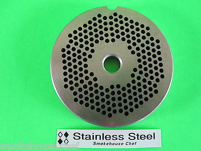 22 X 18 Meat Grinder Plate Stainless Steel Fits Adcraft Weston